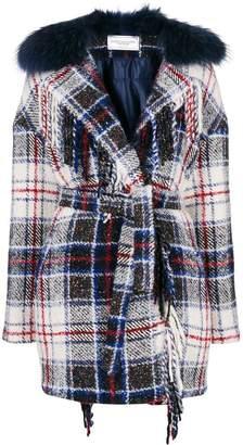 Couture Forte Dei Marmi check belted coat