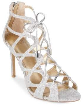 Badgley Mischka Belle Zandra Textile Stiletto Sandals