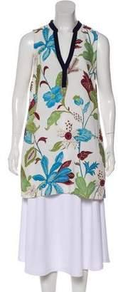 Tory Burch Linen-Blend Sleeveless Tunic