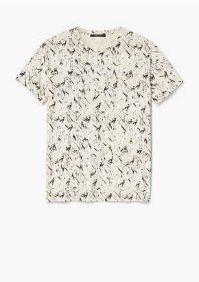 Derek Lam Brushstroke Print Cotton Jersey T-Shirt