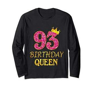 93 Years Old Birthday Queen Girl Shirt 93rd Birthday Pink