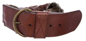 Max Mara Weekend Braided Leather Belt
