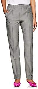 Helmut Lang Women's Virgin Wool-Mohair High-Rise Suit Pants - Gray