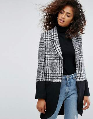 Religion Property Coat In Check Mix