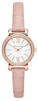 Michael Kors Women's 'Sofie' Quartz Stainless Steel and Leather Casual Watch