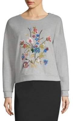 Max Mara Floral Embroidered Sweatshirt