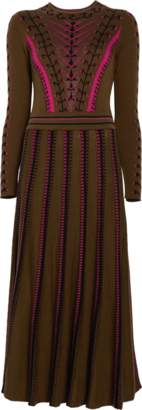 Temperley London Ida Knit Flared Dress