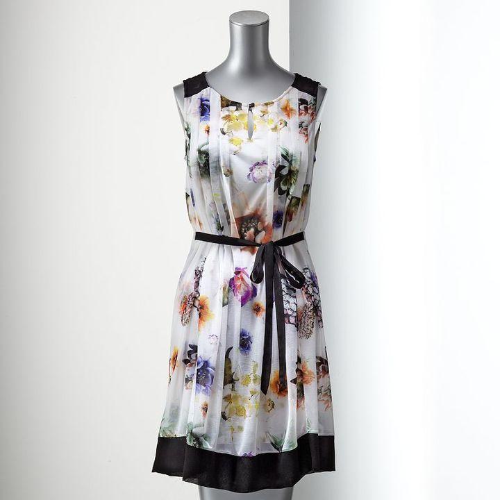 Vera Wang Simply vera floral mesh dress