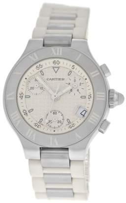 Cartier Chronoscaph 2996 Stainless Steel Quartz 32mm Womens Watch