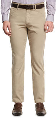 Ermenegildo Zegna Five-Pocket Chino Pants, Medium Beige