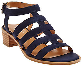 Franco Sarto Leather Multi-strap Sandals - Oriele $73.48 thestylecure.com
