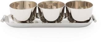 Michael Aram Twist Condiment Bowl & Serving Tray Set
