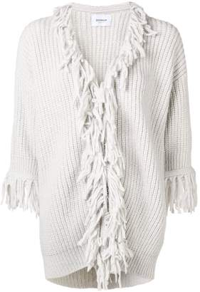 Dondup fringed hem zip cardigan