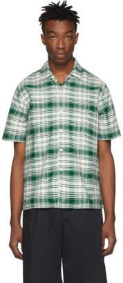 Ami Alexandre Mattiussi Green and Off-White Check Shirt