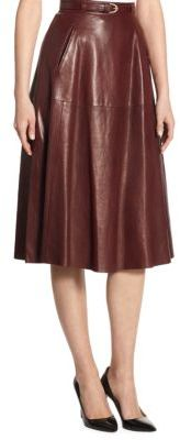 Ralph Lauren Collection Carlotta Leather Skirt $2,790 thestylecure.com