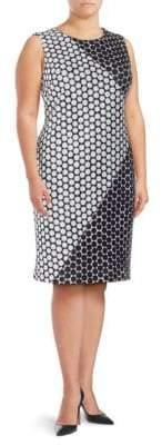 Calvin Klein Polka Dot-Print Sheath Dress