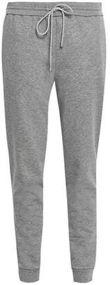 Theory Melange Cotton-blend Fleece Track Pants
