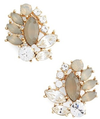 Women's Marchesa Sheer Bliss Cluster Button Earrings $58 thestylecure.com