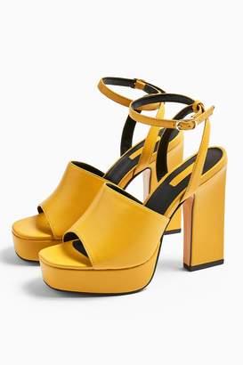 Topshop Womens Rafa Chunky Platform Shoes - Mustard