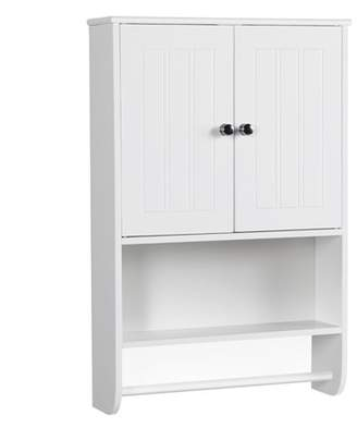 Smilemart Adjustable Wall Cabinet w/ Towel Bar for Bathroom/Kitchen
