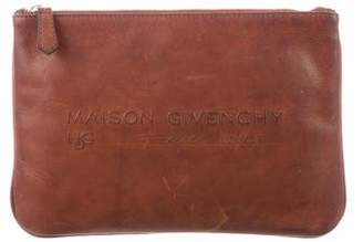 Givenchy Distressed Leather Clutch