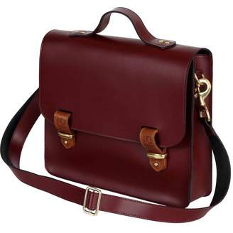 N'Damus London - Lombard Oxblood Leather Three Way Briefcase Satchel & Backpack
