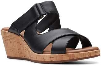 555fc7c5f99 Clarks Black Cork Footbed Women s Sandals - ShopStyle
