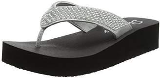 Skechers Women's Vinyasa-Beach League T-Bar Sandals, (Silver), 36 EU