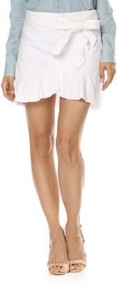 Paige Nivelle Ruffle Denim Skirt