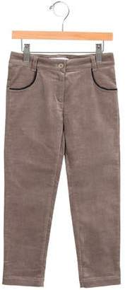 Tartine et Chocolat Girls' Velvet Straight-Leg Pants w/ Tags