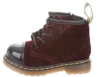 3cbb1046f8a2 Dr. Martens Kids Toddler Girls' Velvet Ankle Boots