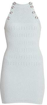 Balmain Women's Sleeveless Stripe Knit Dress
