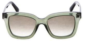 Valentino Gradient Oversize Sunglasses