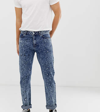 Reclaimed Vintage the '89 original fit jeans with paint splatter
