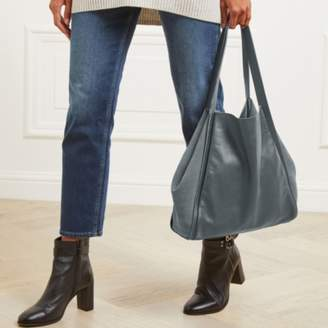 The White Company Leather-Suede Tote Bag