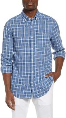 Vineyard Vines Tucker Slim Fit Check Cotton & Linen Sport Shirt
