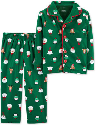 Carter's Toddler Boys 2-Pc. Fleece Holiday-Print Pajamas