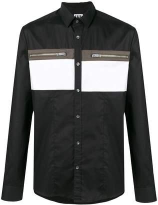 Les Hommes Urban zip detailed shirt