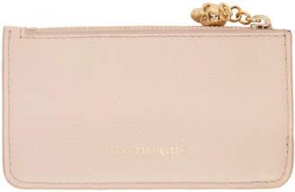 Alexander McQueen Pink Zip Card Holder
