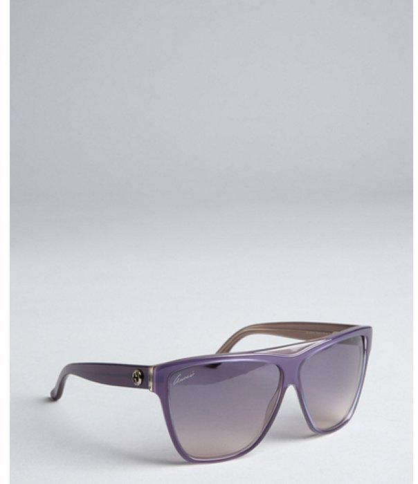 Gucci lilac acrylic retro sunglasses