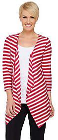 Susan Graver Weekend Sequin Stripe Sweater KnitCardigan