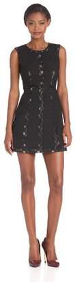 BCBGMAXAZRIA Women's IRG6Y435 A-line Sleeveless Dress - - Noir () - (Brand size: 8)