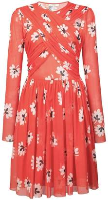 Ganni floral print pleated dress
