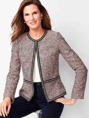 Talbots Grosgrain-Trim Tweed Jacket