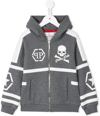 Philipp Plein Junior zip up hoodie
