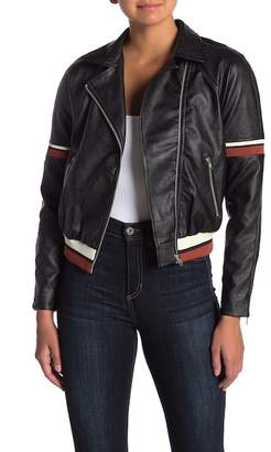 Moto A.Calin Faux Leather Jacket