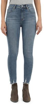 Articles of Society Heather Trenton Irregular Hem Skinny Jeans