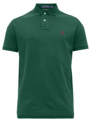 Polo Ralph Lauren Logo Embroidered Cotton Pique Polo Shirt - Mens - Green