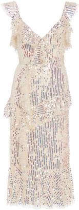 Needle & Thread Scarlett Sequin Tulle Midi Dress