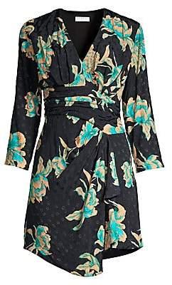 Sandro Women's Bruni Asymmetric Floral Dress